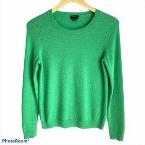 Talbots Green 100% Cashmere Sweater Size Medium